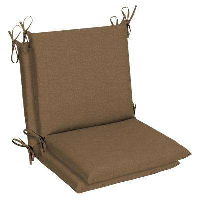 Sunbrella Cast Teak Outdoor Dining Chair Cushion (2 Pack)