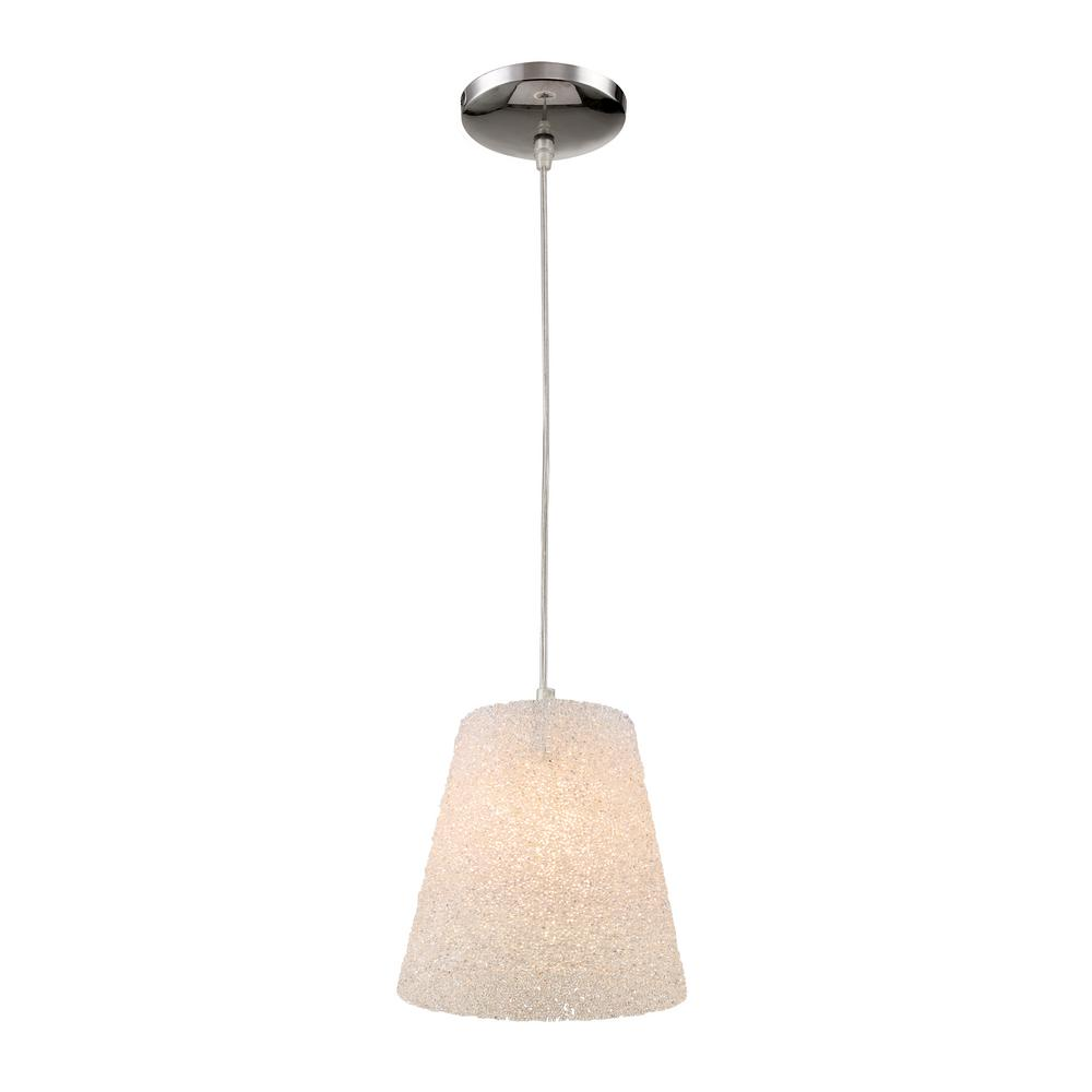 Transglobe 1-Light Polished Chrome Interior Pendant with Crushed Acrylic Shade was $46.0 now $30.85 (33.0% off)