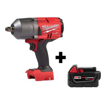 M18 FUEL 18-Volt Lithium-Ion Brushless Cordless 1/2 in. Impact Wrench with Friction Ring with Free M18 5.0Ah Battery