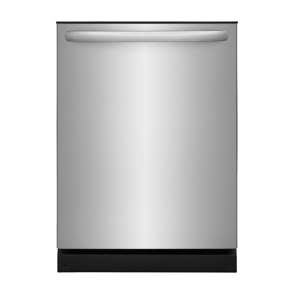 24 in. Built-In Tall Tub, Top Control Dishwasher in Stainless Steel,