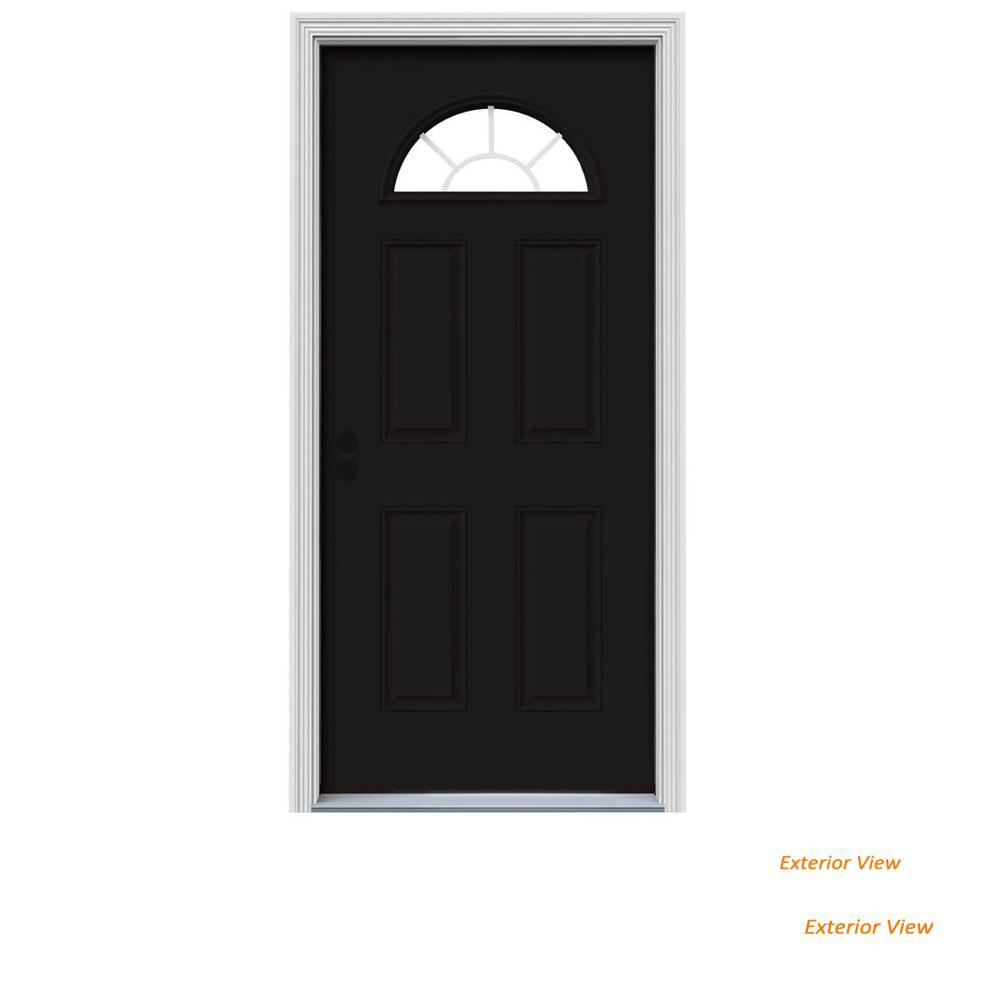 32 X 80 Black Front Doors Exterior Doors The Home Depot