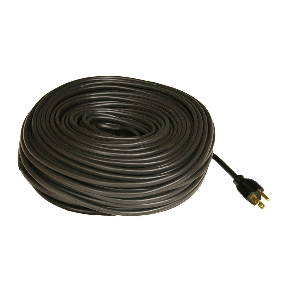 Wrap On 100 Ft Roof And Gutter De Icing Black Cable Kit