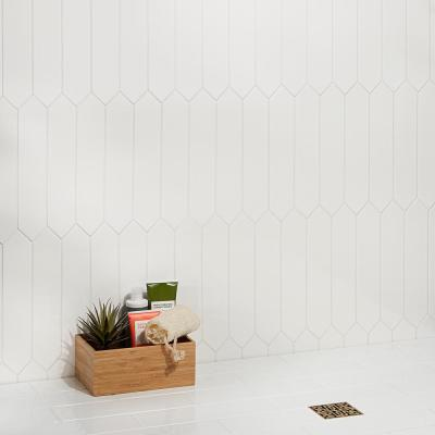 Axis 2.6 in. x 13 in. White Polished Elongated Hex Ceramic Wall Tile (12.26 sq. ft. / case)