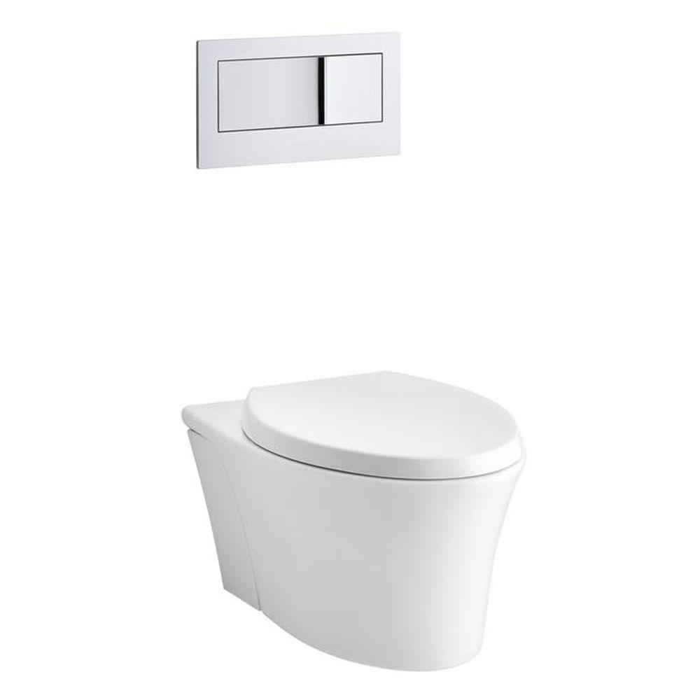 KOHLER Veil Wall-Hung Elongated Toilet Bowl Only in White-K-6299-0 ...