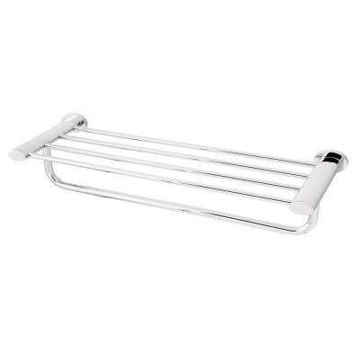 Caspian Towel Rack in Polished Chrome