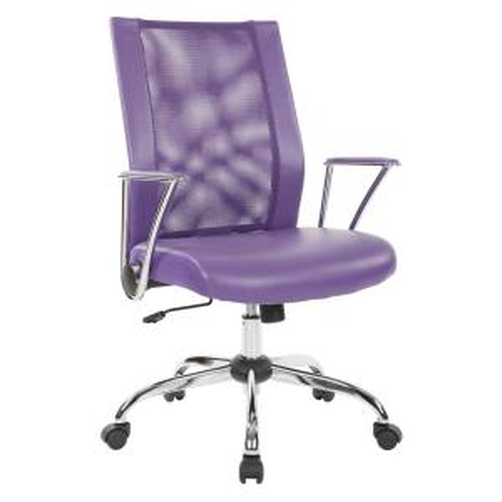 Internet 306907597 3 Ave Six Bridgeway Purple Woven Mesh Office Chair