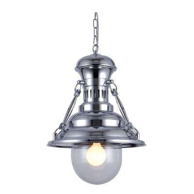 Industrial 1-Light Chrome Pendant