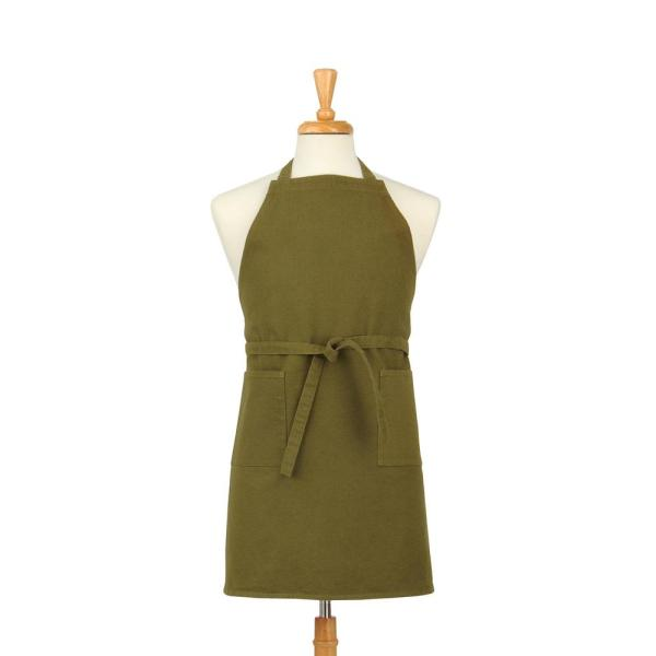 ASD Living Two Pocket Cotton Canvas Chef's Apron, Military Green