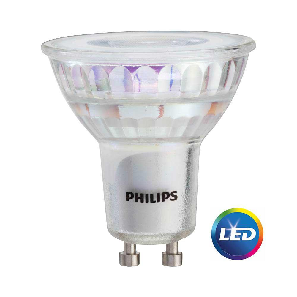 Philips 50w Equivalent Bright White Mr16 Gu10 Led Light Bulb 3 Pack 465054 The Home Depot