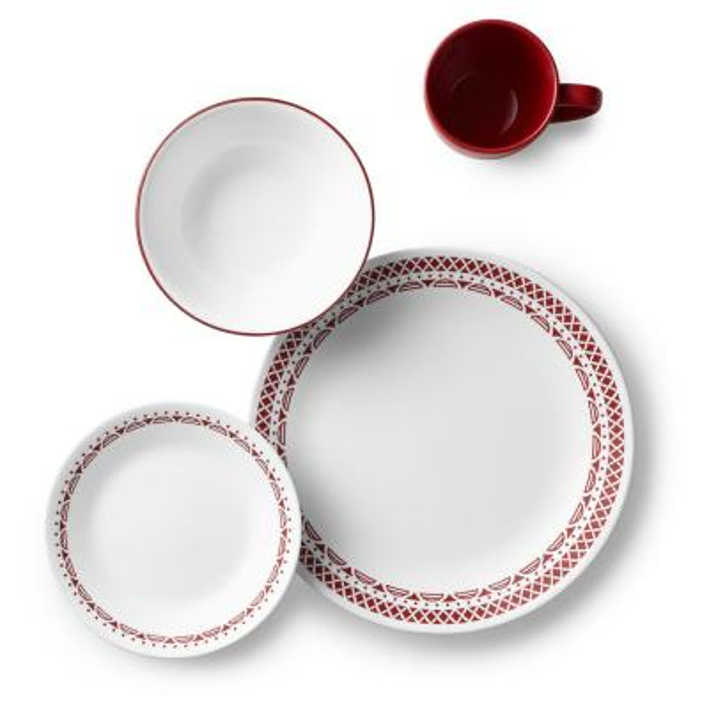 Classic 16-Piece Cordoba Dinnerware Set