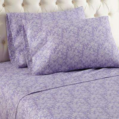4-Piece Enchantment Violet King Sheet Set