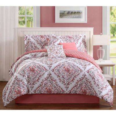 Studio 17 Perla Coral 7-Piece Full/Queen Comforter Set
