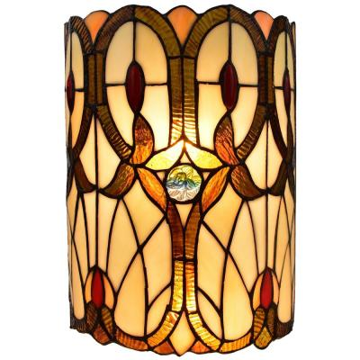 2-Light Multi-Colored Tiffany Style Geometric Wall Sconce