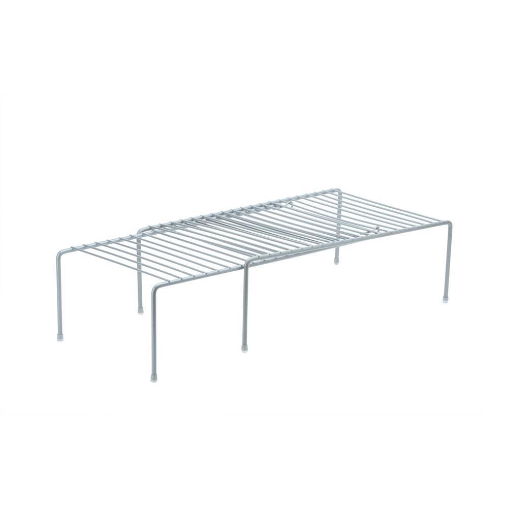 Expandable Grey Cabinet Shelf Organizer