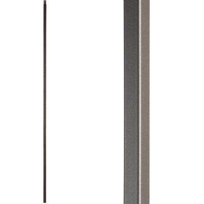 Versatile 44 in. x 0.5 in. Ash Grey Plain Square Bar Hollow Wrought Iron Baluster