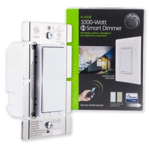 GE Z-Wave Plus In-Wall 1000W Smart Dimmer, White/Lt  Almond-14299 - The  Home Depot