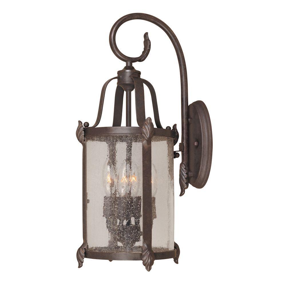 World Imports Old Sturbridge Collection 4-Light Bronze Outdoor Wall Lantern