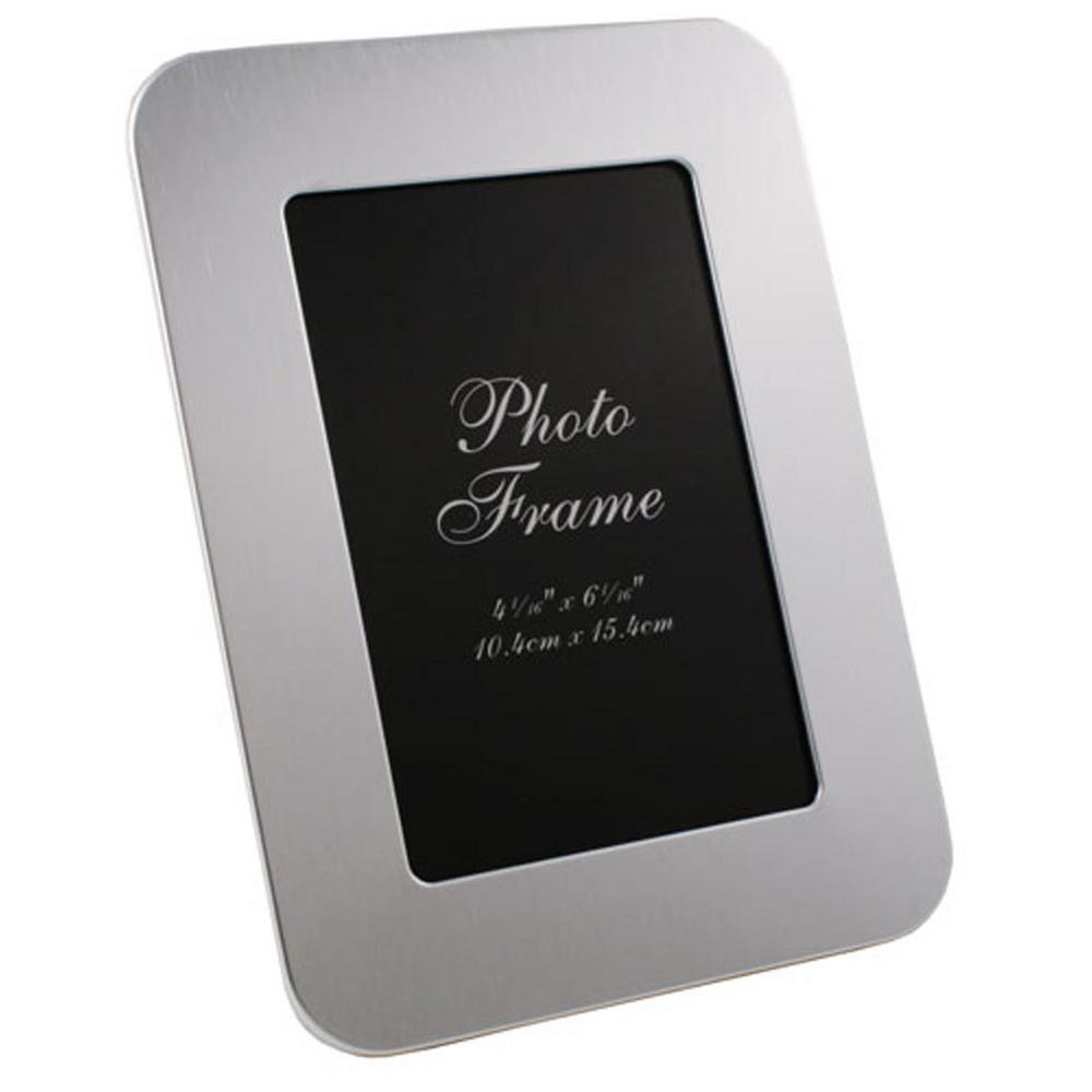 Zafina Brushed Aluminium Photo Frame