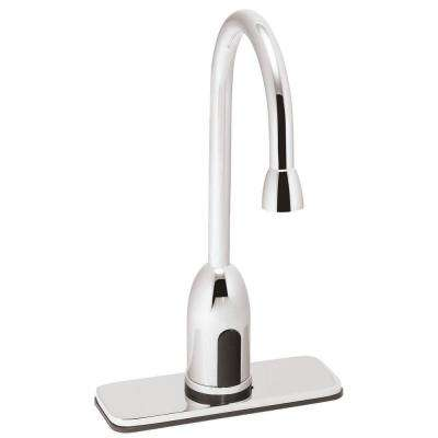 SensorFlo AC-Powered Sensor Faucet with 4 in. Deck Plate in Polished Chrome