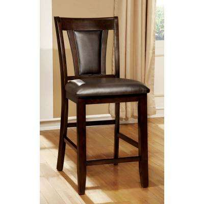 Brent II Dark Cherry and Espresso Transitional Style Counter Height Chair (2-Pack)