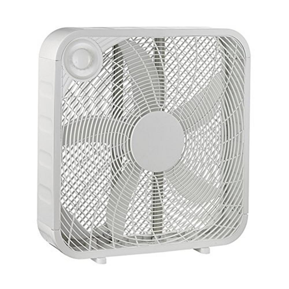 fan box. white box high velocity fan with 3 setting speeds air flow smart