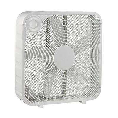 20 in. White Box High Velocity Fan with 3 Setting Speeds Air Flow Smart and Energy Efficient