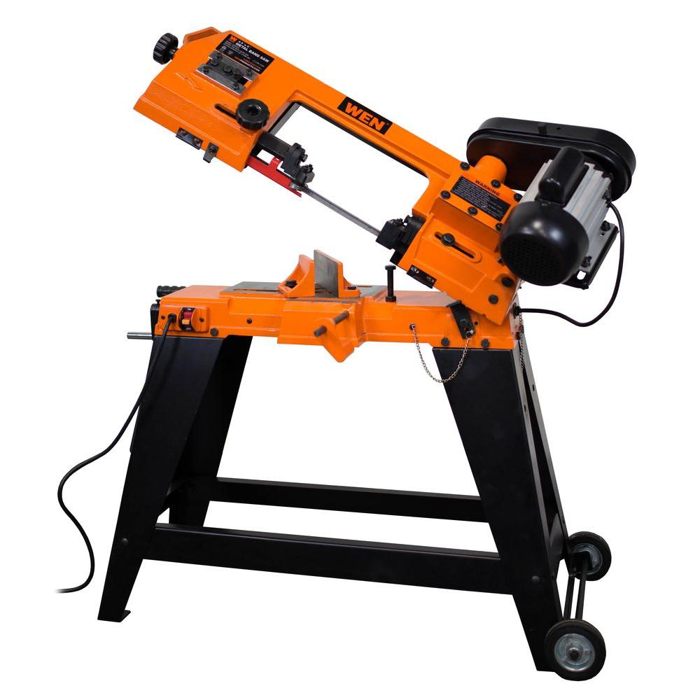 Wen 46 amp 4 in x 6 in metal cutting band saw with stand 3970 metal cutting band saw with greentooth Image collections