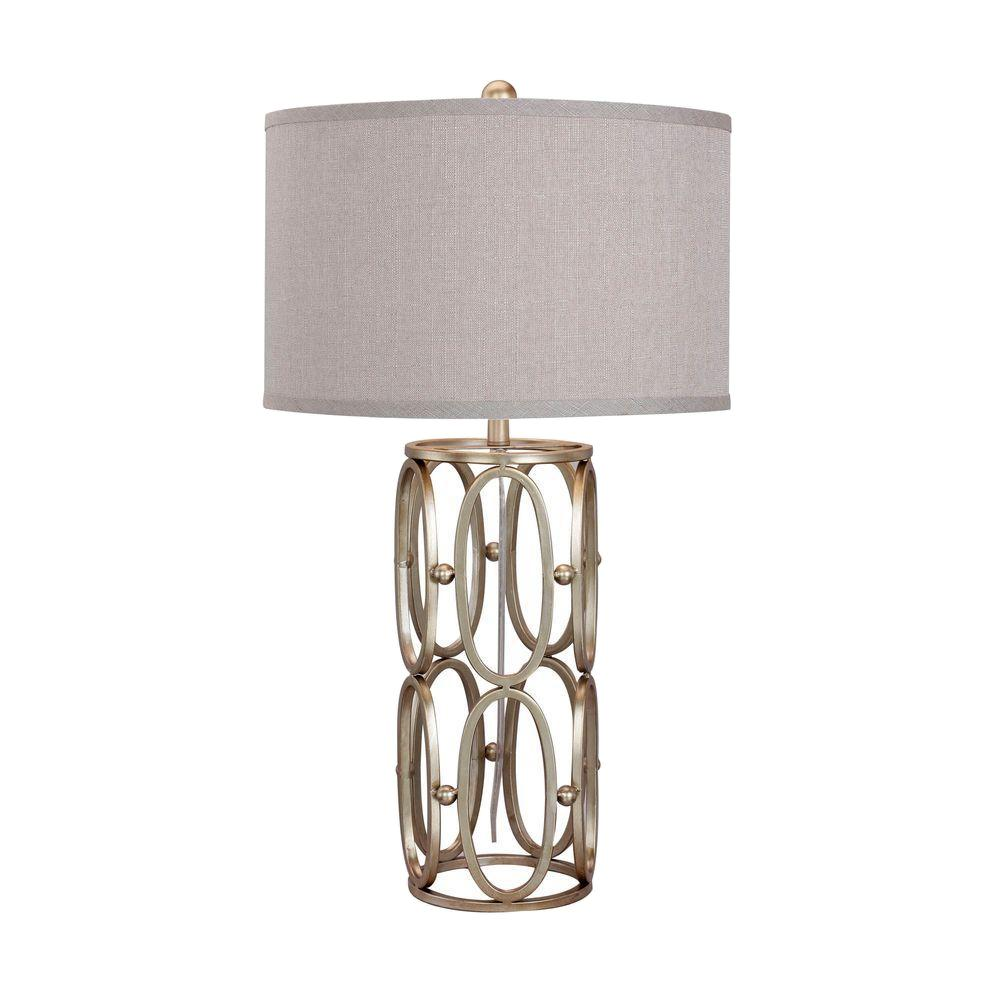 Champagne Gold Open Metal Work Table Lamp