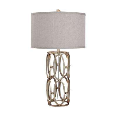 28 in. Champagne Gold Open Metal Work Table Lamp