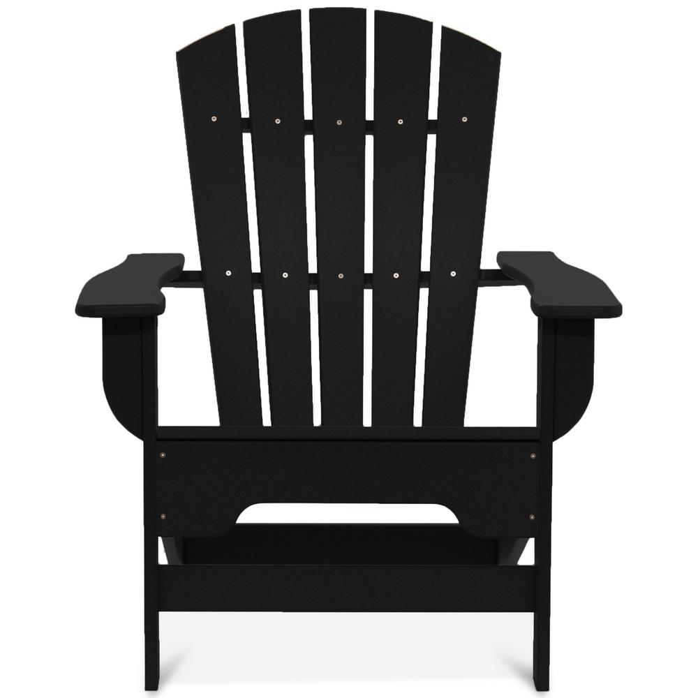 Boca Raton Black Recycled Plastic Adirondack Chair