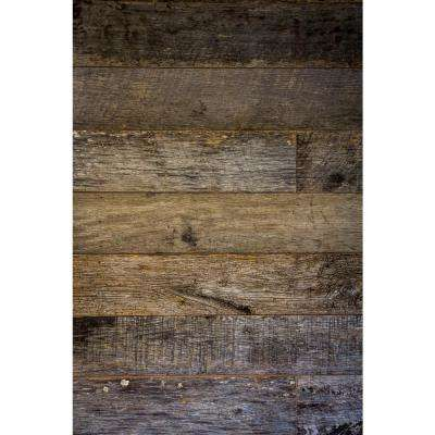 3/8 in. x Varying Widths x Varying Lengths Kentucky Racehorse Weathered Gray Reclaimed Wallboard (10 sq. ft./Case)