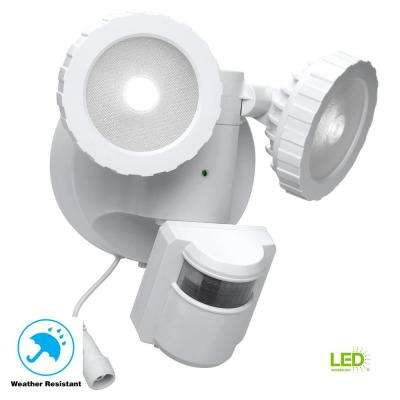 180 Degree White Solar Powered Motion Activated Outdoor Integrated LED Flood  Light