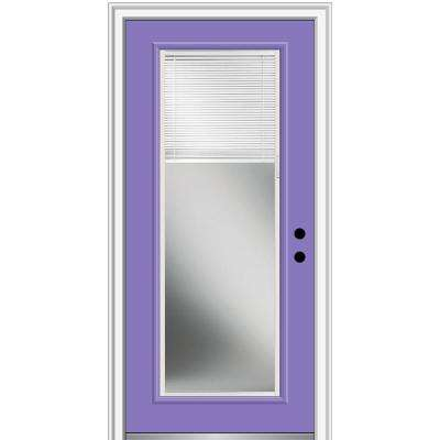 32 in. x 80 in. Internal Blinds Left-Hand Inswing Full Lite Clear Painted Steel Prehung Front Door