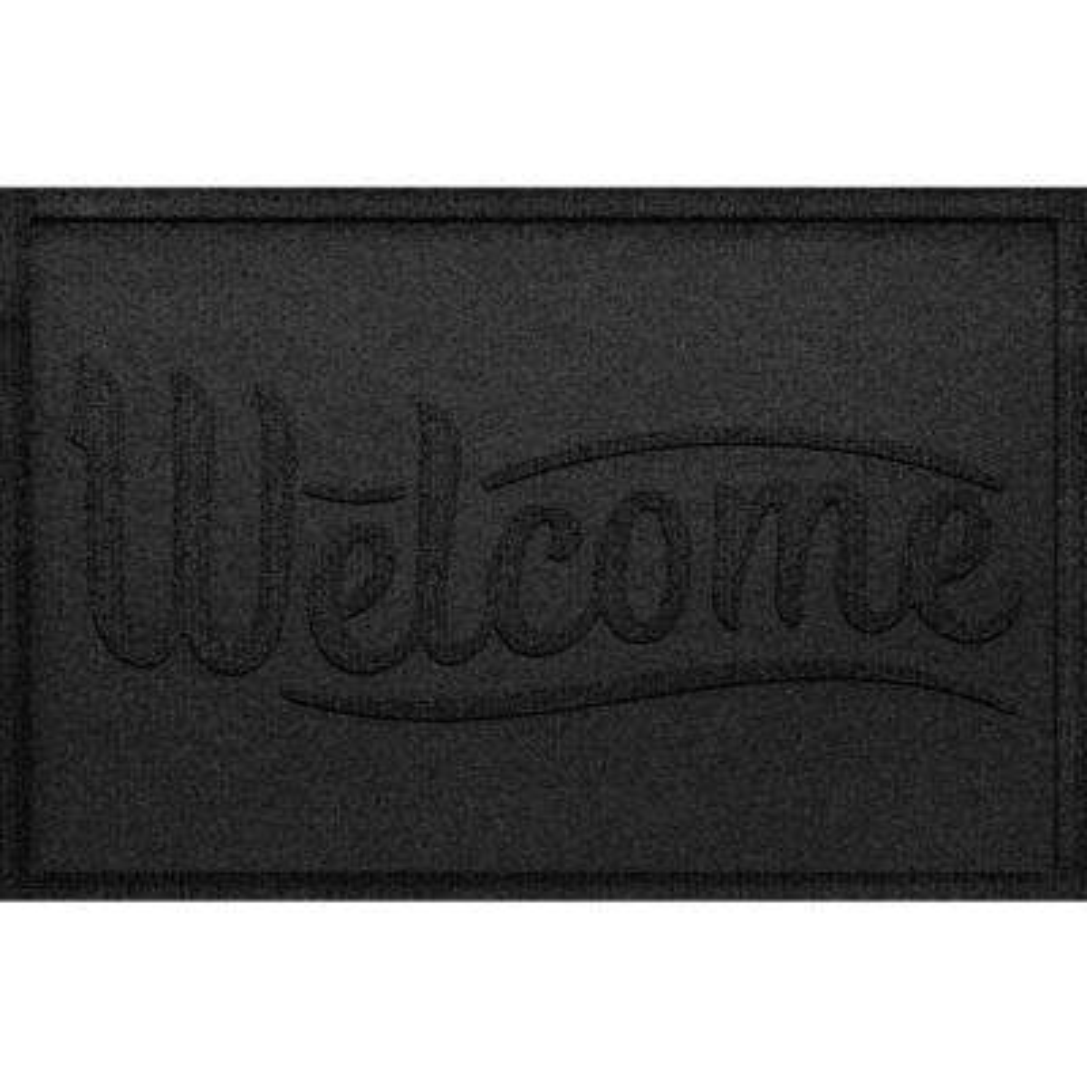Simple Welcome Khaki 24 in. x 36 in. Polypropylene Door Mat