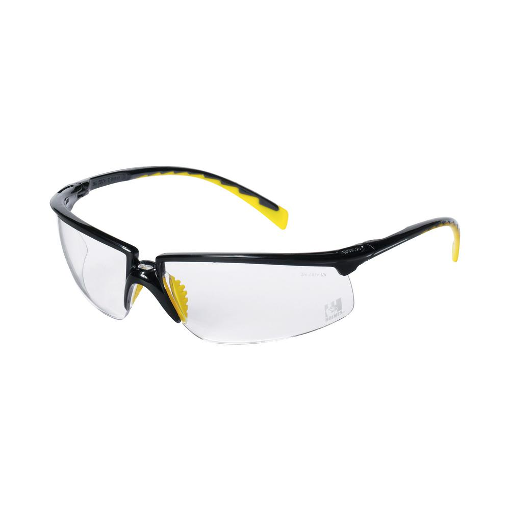Holmes Workwear Black Frame with Clear lenses Safety Glasses (Case of