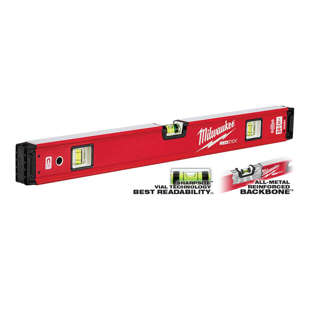 Milwaukee 24 in. REDSTICK Magnetic Box Level-MLBXM24 - The Home Depot