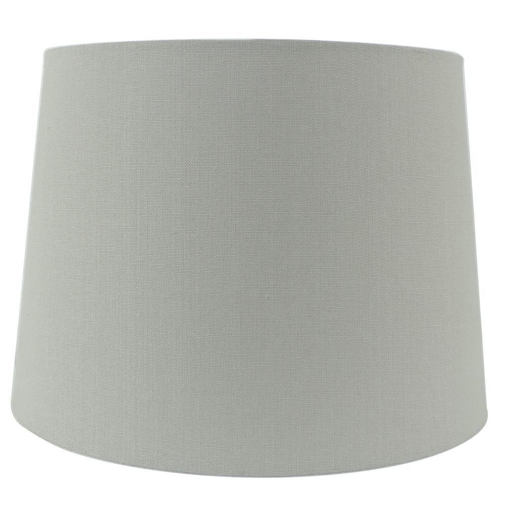 15 in. W x 11 in. H Grey Linen Hardback Empire Lamp Shade