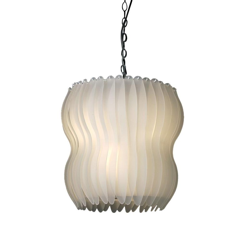 Filament Design Apollo 3-Light Polished Chrome Pendant with Pearl Glass Shade