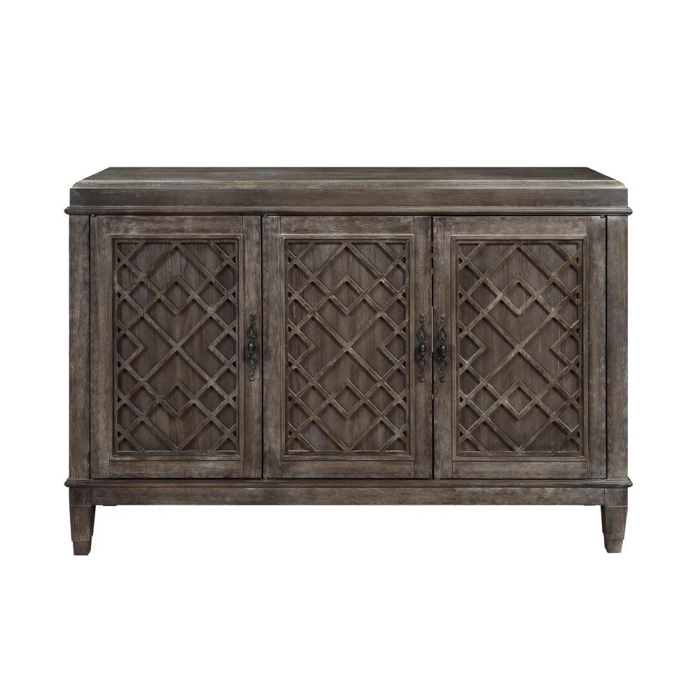 Acme furniture godeleine weathered gray oak server