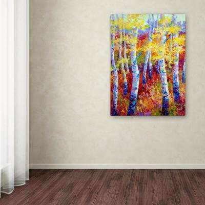 "32 in. x 24 in. ""Autumn Gold"" by Marion Rose Printed Canvas Wall Art"
