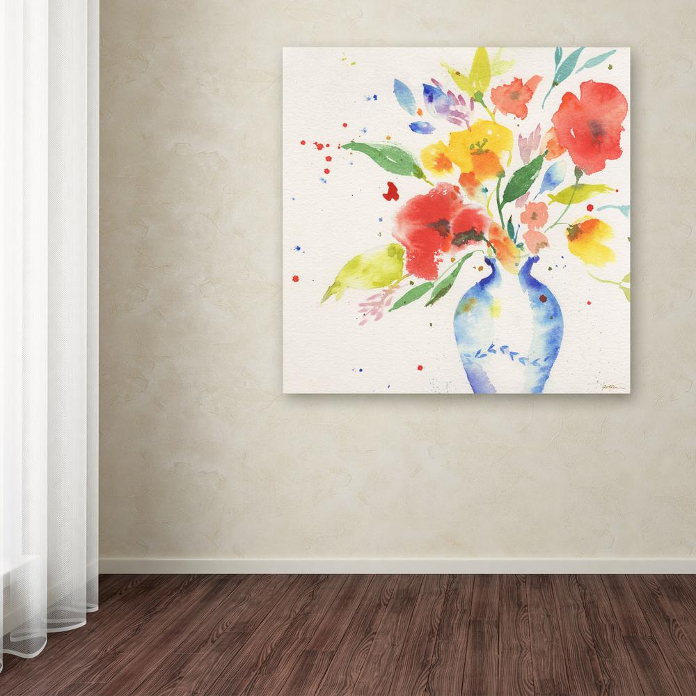 14 in. x 14 in. ''Vibrant Bouquet'' by Sheila Golden Printed Canvas Wall Art