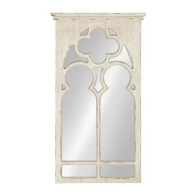 Mirabela Arch Framed Wall Mirror Other White