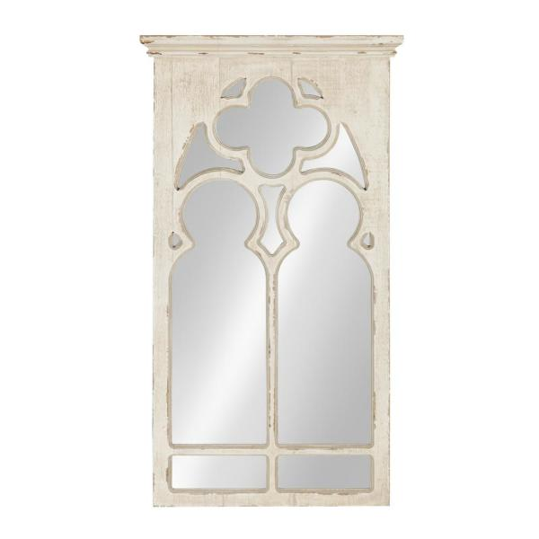 Medium Arch White Casual Mirror (31.5 in. H x 16.25 in. W)