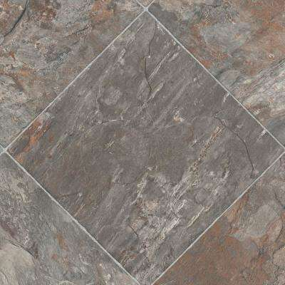 Take Home Sample - Diagonal Slate Vinyl Sheet - 6 in. x 9 in.