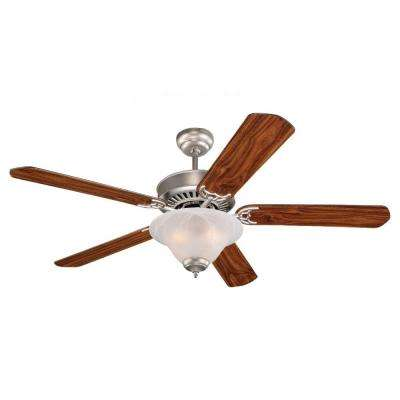 Quality Pro Deluxe 52 in. Brushed Pewter Indoor Ceiling Fan