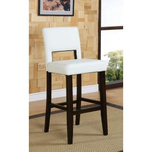 Wondrous Linon Home Decor Vega 24 In White Cushioned Counter Stool Unemploymentrelief Wooden Chair Designs For Living Room Unemploymentrelieforg