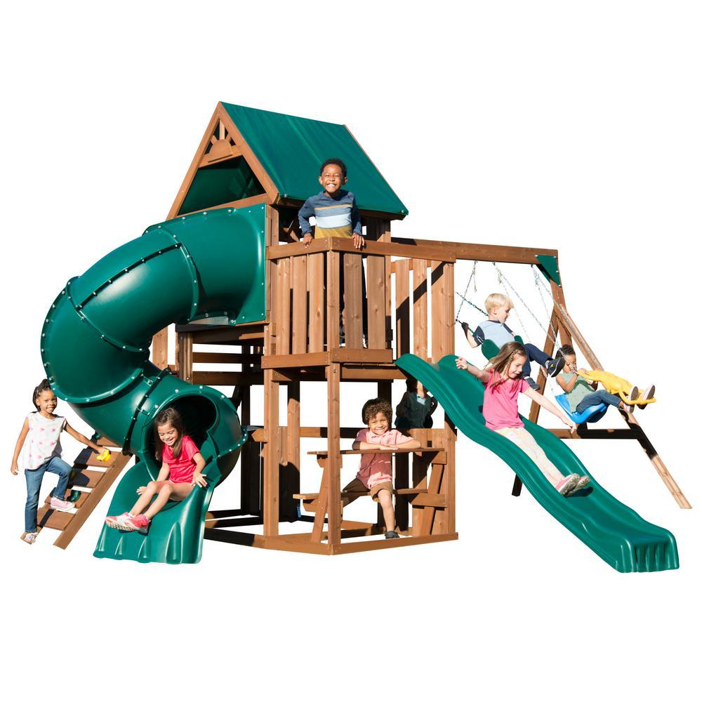 Swing-N-Slide Playsets Tellico Terrace Ready-To-Assemble Swing Set