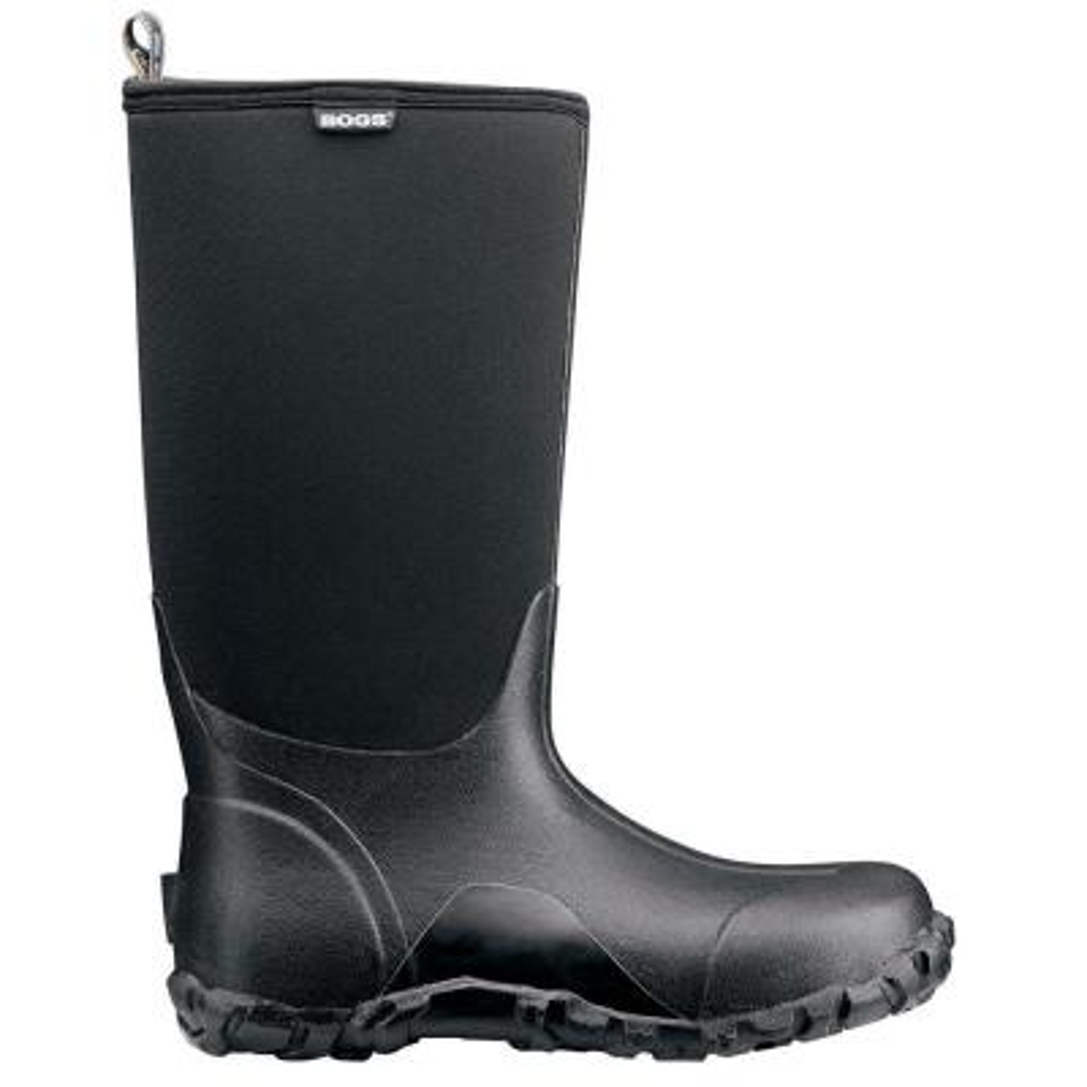 Classic High Men 14 in. Size 14 Black Rubber with Neoprene Waterproof Boot