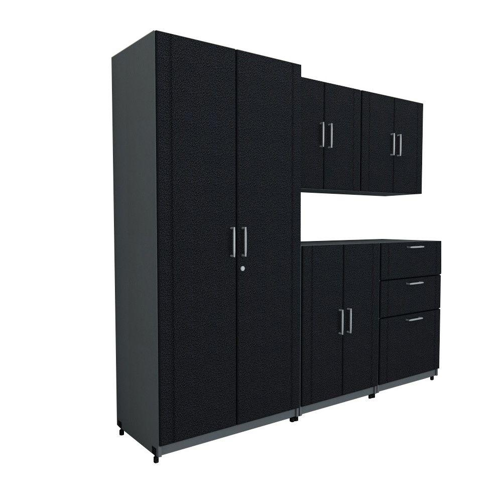 ClosetMaid 80 in. W x 73.25 in. H x 18.75 in. D Basic System in Black (5-Piece)