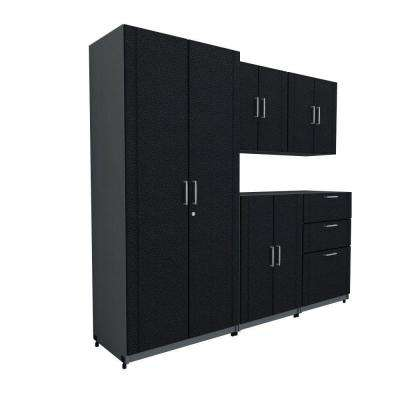 80 in. W x 73.25 in. H x 18.75 in. D Basic System in Black (5-Piece)